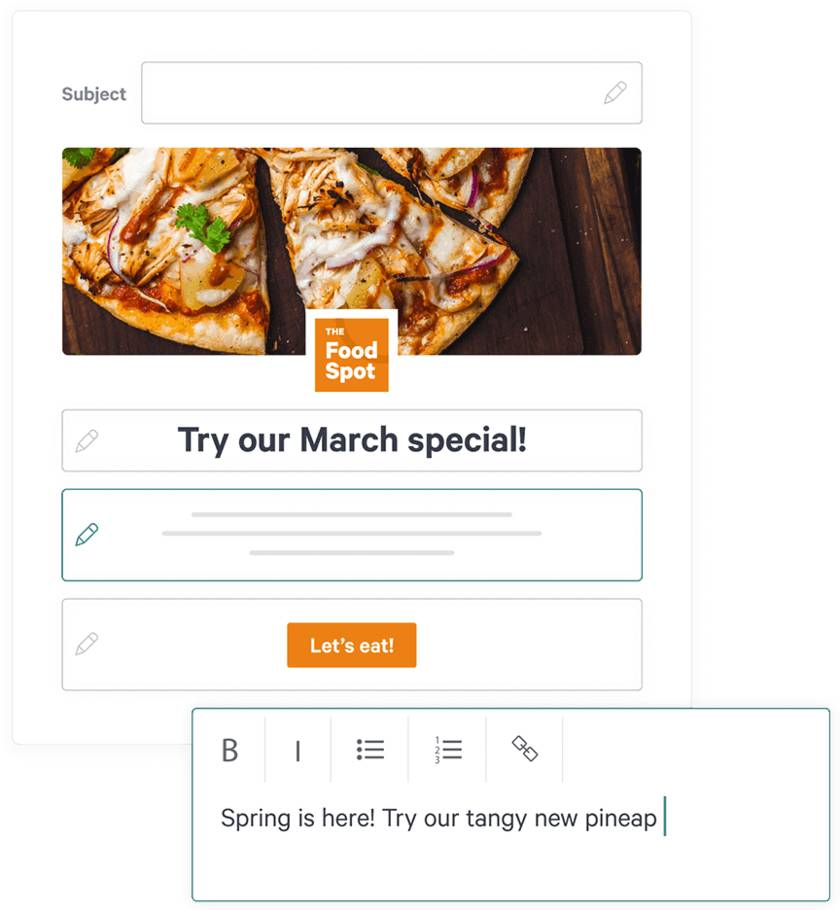 Screenshot of Toast Email Template