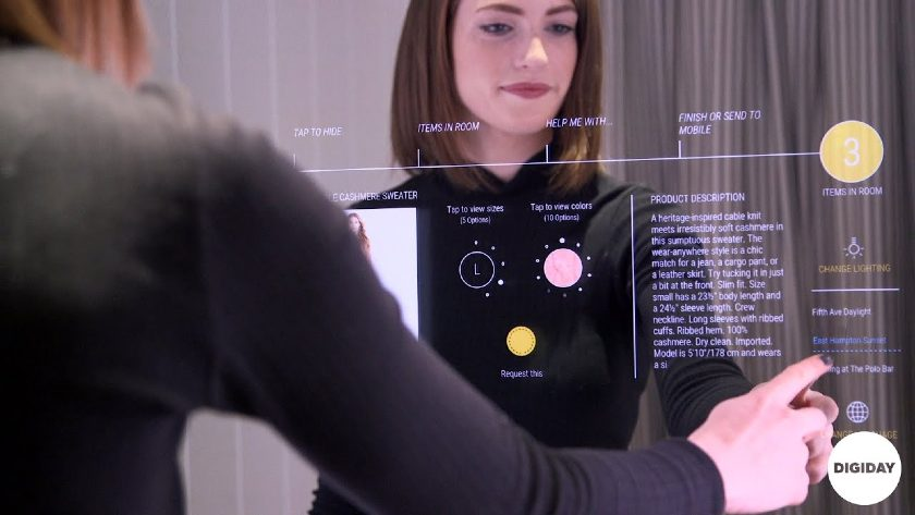 Screenshot of a Woman Clicking on a Request Button