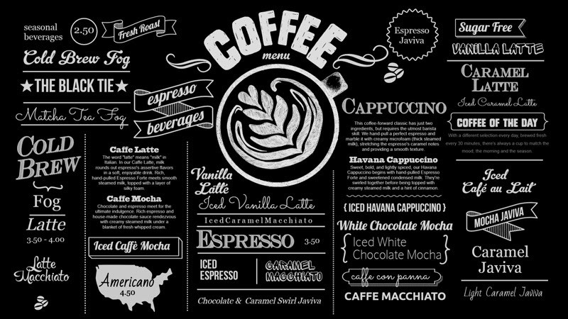 Screenshot of the blackboard menu style