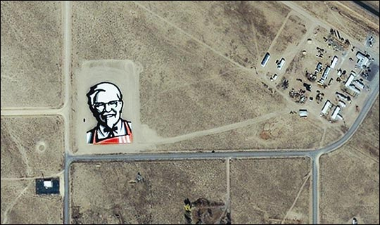 KFC Ad Visible From Space