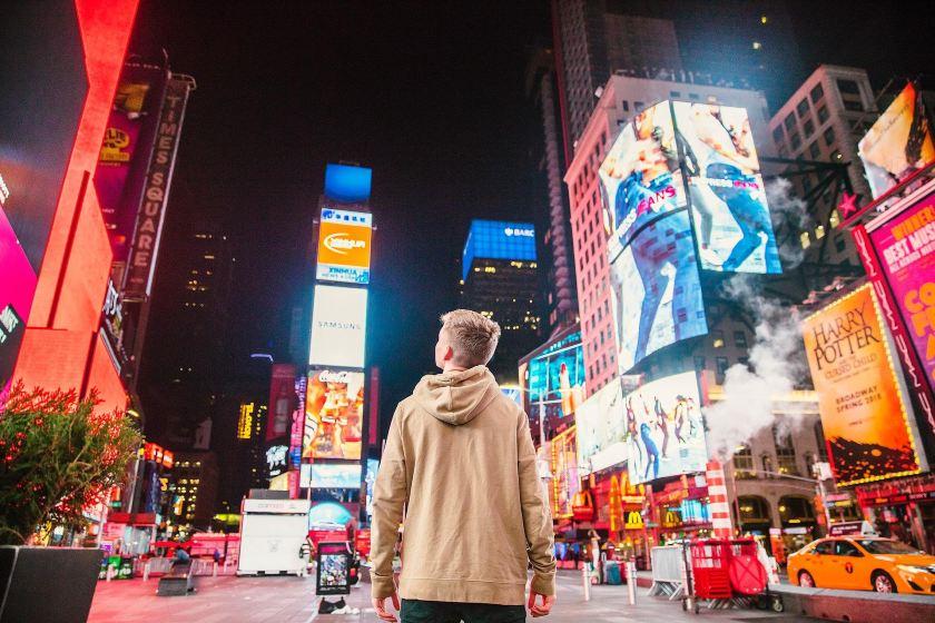 New York Time Square digital billboards