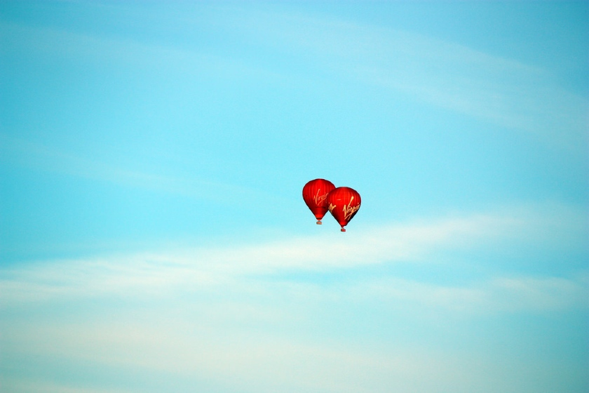 Virgin Airlines Hot Air Balloons