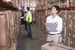 Woman Checking Inventory