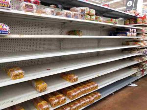 Groceries Running out of Stock