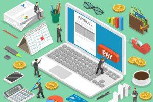 Payroll flat isometric vector