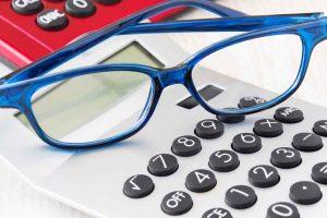 Eyeglasses And Calculator