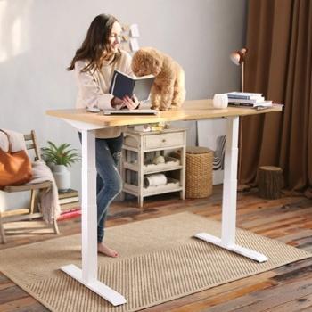 Height-adjustable standing desks