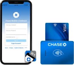 Screenshot of Chase card reader mobile app