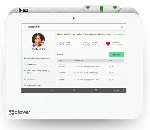 Screenshot of Clover Profile Page
