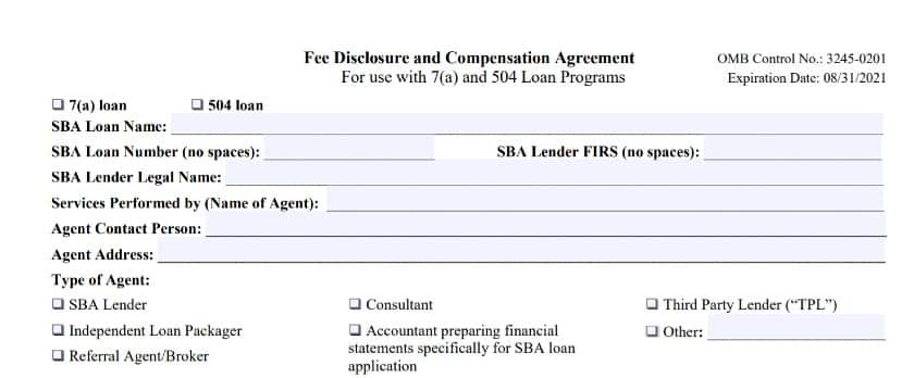 Fee Disclosure and Compensation Agreement