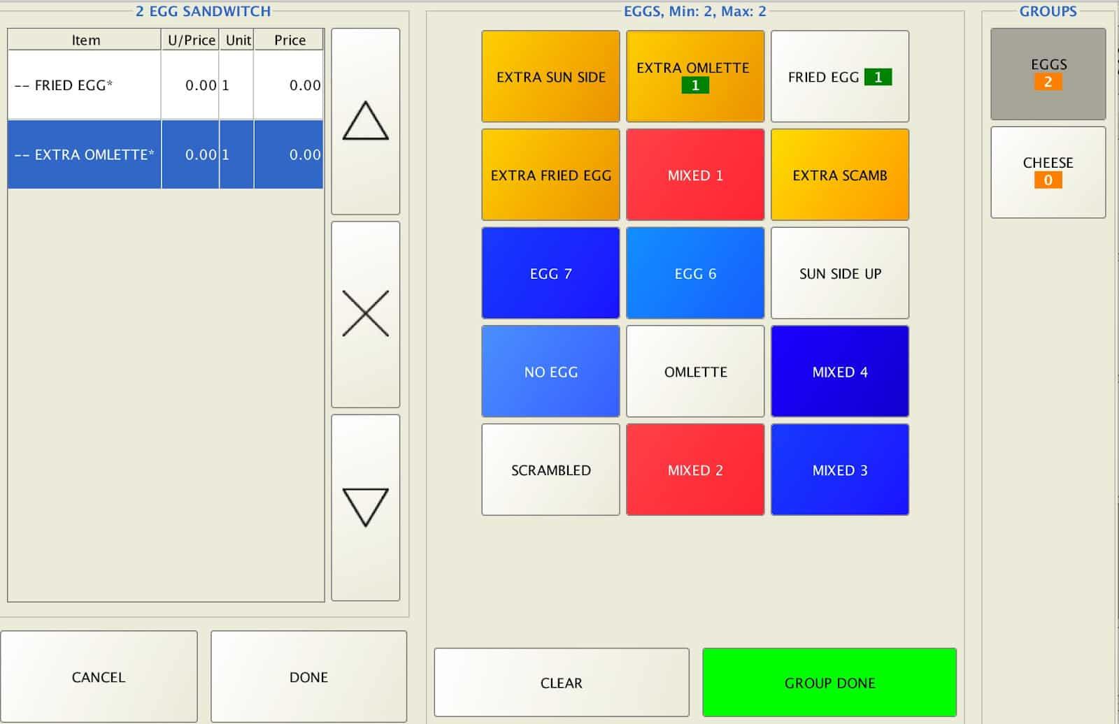 Screenshot of Floreant POS food orders example