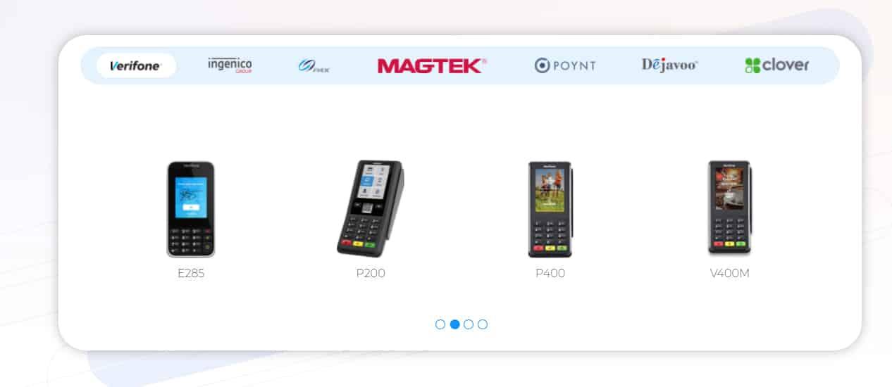 Screenshot of PaymentCloud card readers