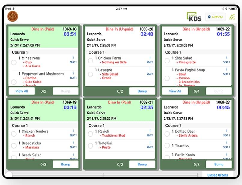Screenshot of Rezku KDS