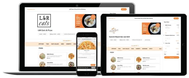 Screenshot of Rezku online ordering website