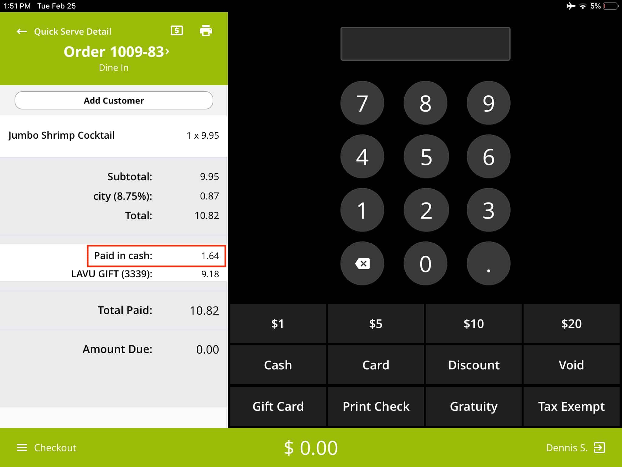 Screenshot of Rezku payment screen