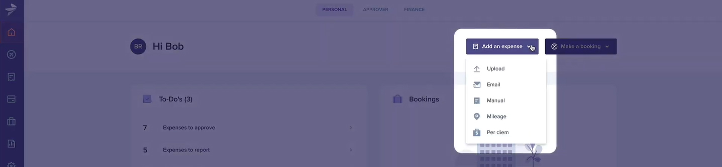 Screenshot of Rydoo Submit Expenses