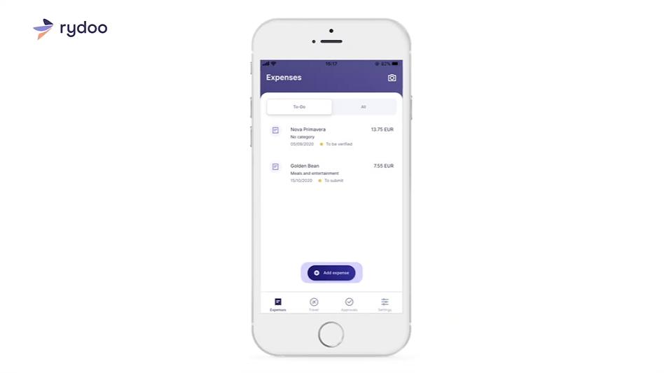 Screenshot of Rydoo User Account Mobile View