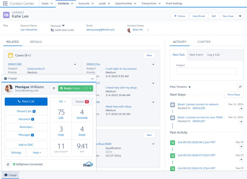 Salesforce Contacts Profile interface