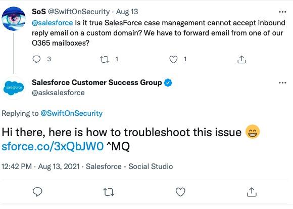 Salesforce Replied To Customers In Twitter