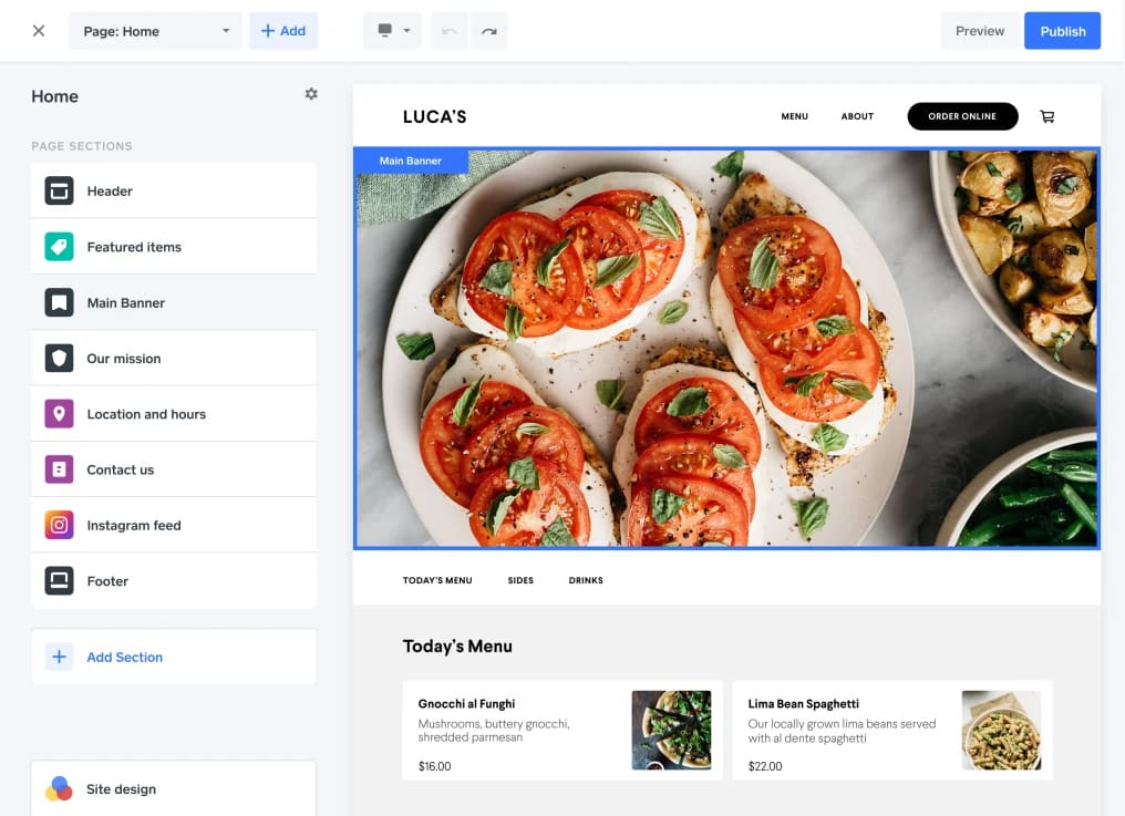Screenshot of Square create product page