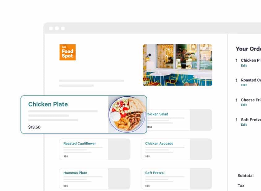 Screenshot of Toast POS Sample Order