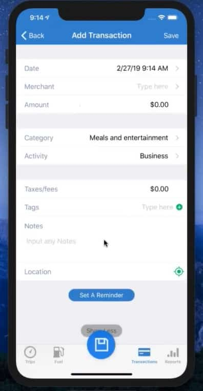 Screenshot of TripLo Adding Other Expense