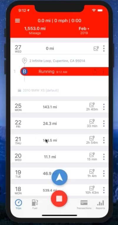 Screenshot of TripLo GPS Tracking