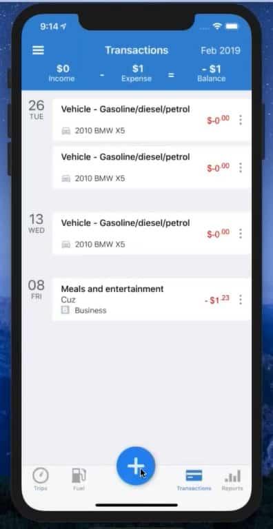 Screenshot of TripLo Transactions Dashboard