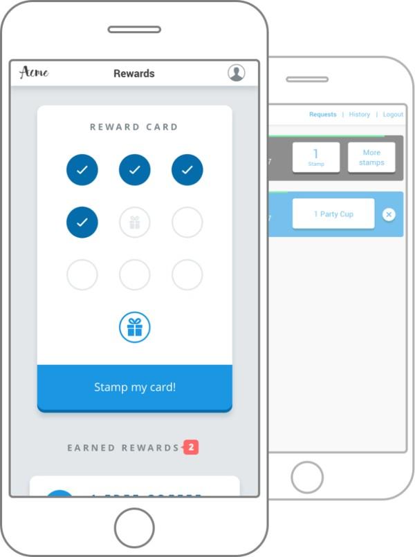 Screenshot of CandyBar Reward Card on Mobile