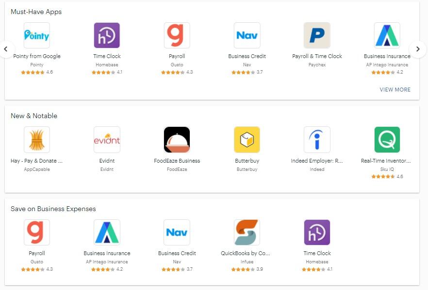 Screenshot of Clover Integrated Apps