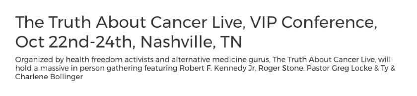 Screenshot of Event Press Pelease Headline Example 2