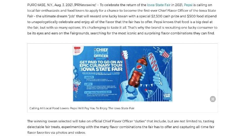 Screenshot of Iowa State Fair