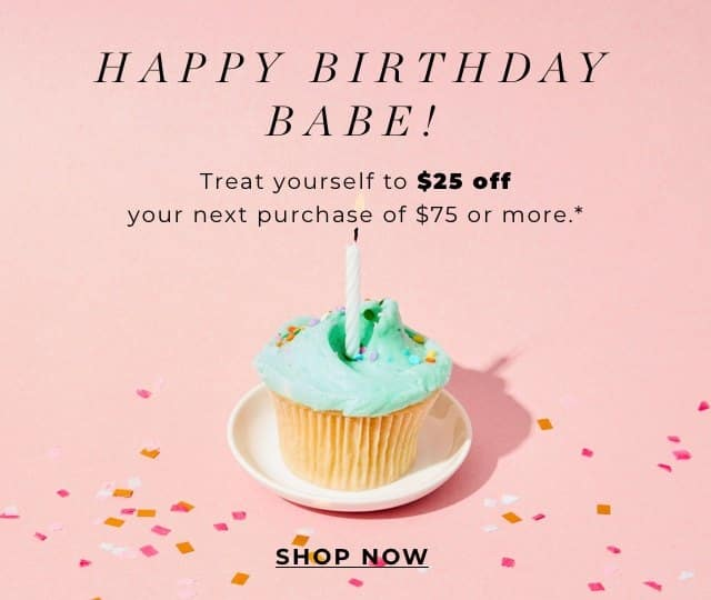 Screenshot of Sending Out Birthday and Special Event Discounts