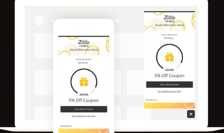 Screenshot of Smile.io Coupon Rewards