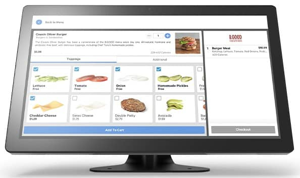 Screenshot of Toast POS on a Monitor