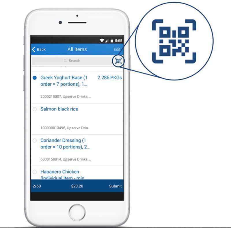 Screenshot of Upserve Inventory Count App