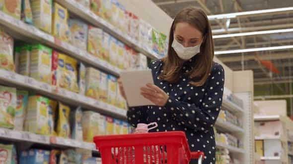 Screenshot of a Woman Shopping
