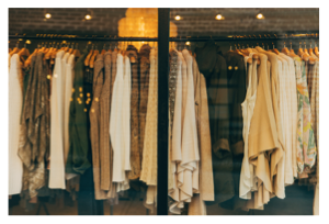 Trendy Clothes On Rack