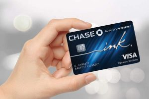 hand holding Chase Ink Business Preferred Credit Card