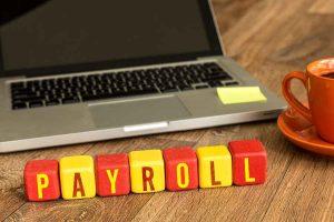Payroll Written On Wooden Cube