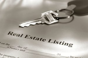 Real Estate Listing form and key