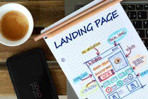 Website landing page development sketch