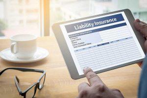 liability insurance on Ipad screen