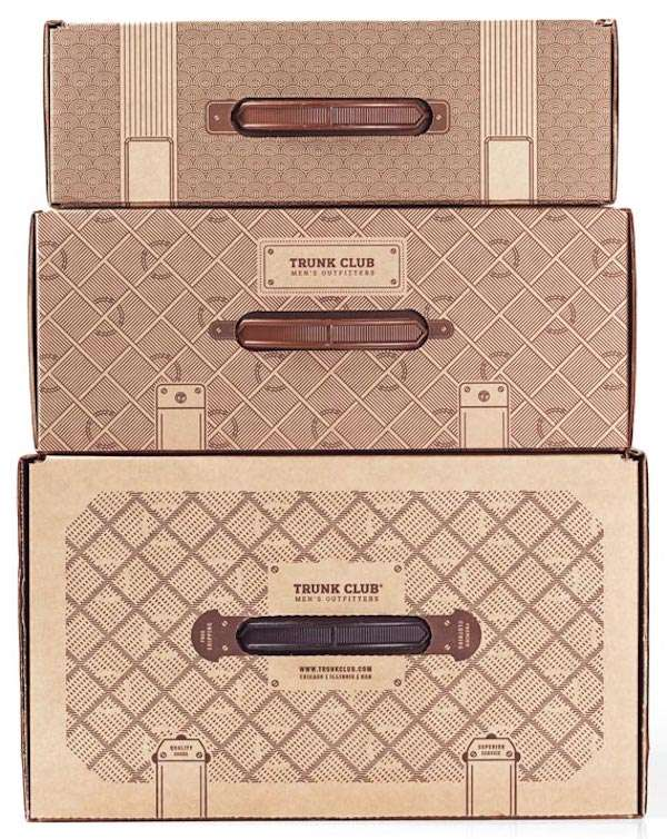 Nordstrom Trunk Club fully customized boxes that look like actual luggage