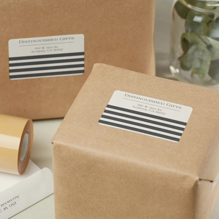 Packaging with Printed Logo Stickers