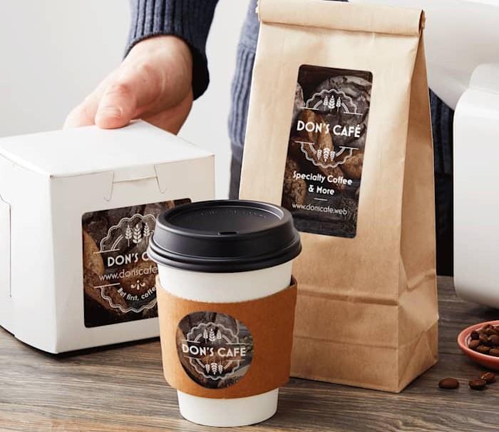 Vistaprint Cafe packaging