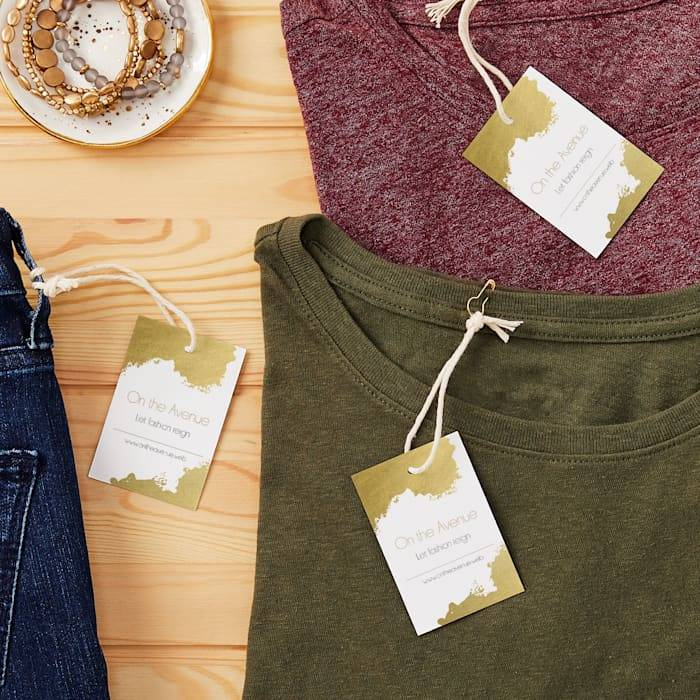 boutique custom tags