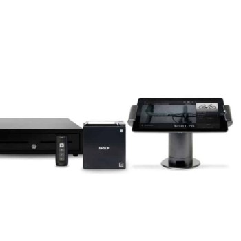 iPad stand, Bluetooth scanner, LAN receipt printer and cash drawer