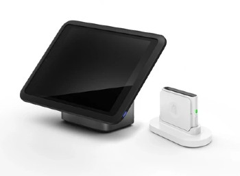 iPad stand and a chip and swipe card reader
