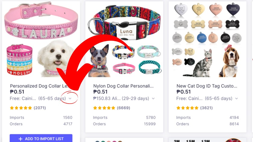 AliExpress Get detailed shipping costs and delivery estimates
